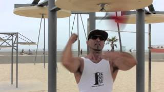 Killing the speed bag at Venice beach