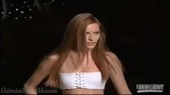 [HD] Rie Rasmussen - Victoria's Secret Runway Walks (2001)