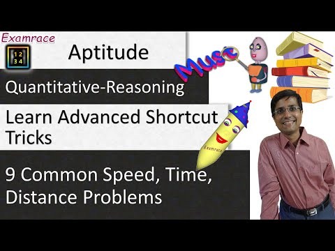9 Common Speed, Time, Distance (Aptitude) Problems: Learn Advanced Shortcut Tricks