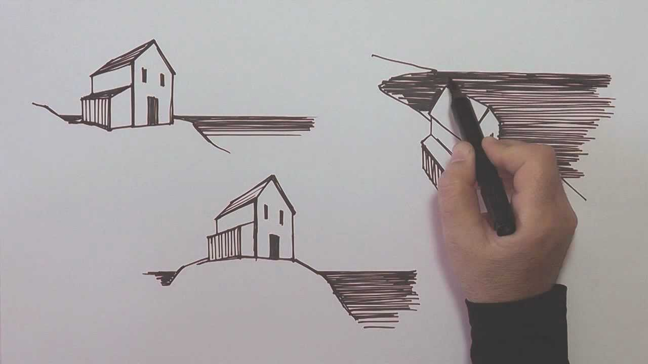Linear Art Definition : Linear perspective in drawing youtube