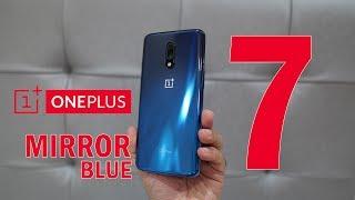 Oneplus 7 Mirror Blue unboxing plus looks 6GB + 128GB Rs. 32,999