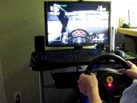 thrustmaster ferrari gt experience racing wheel gameplay. Black Bedroom Furniture Sets. Home Design Ideas