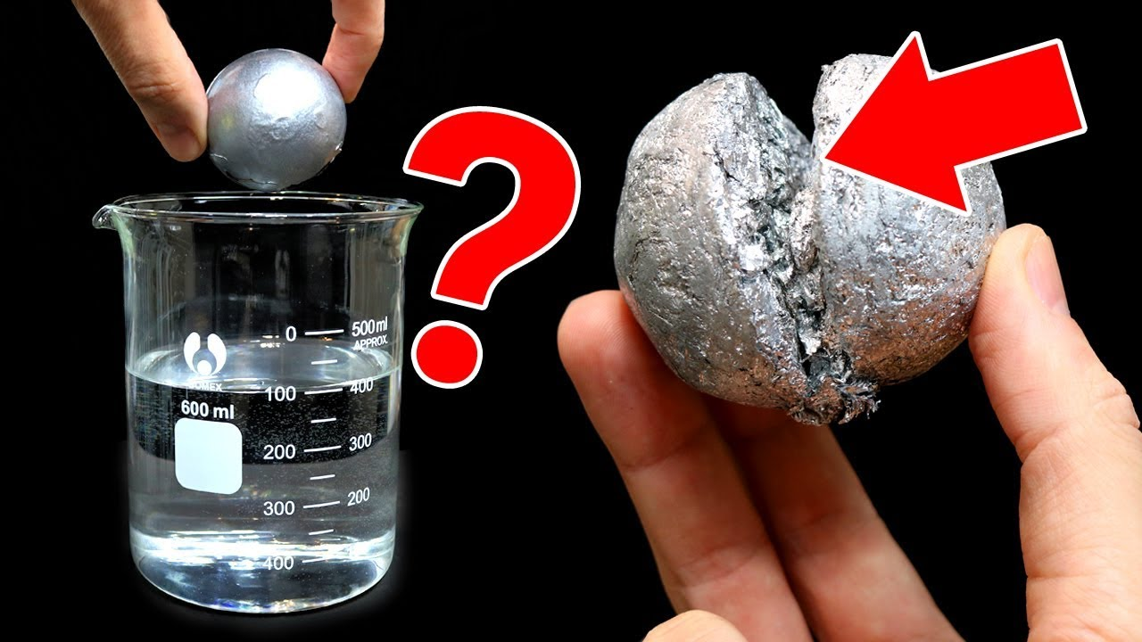 BOLA DE ALUMINIO PULIDA ¿FLOTA? ¿CÓMO ES POR DENTRO BAJO EL MICROSCOPIO? | RETO JAPONÉS