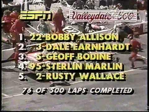1985 NASCAR Winston Cup Valleydale Meats 500 @ Bristol [ESPN Classic Broadcast Version] (Full Race)