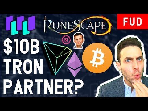 $10B TRON TRX PARTNERSHIP? WaltonChain Bitcoin SpankChain RuneScape Ethereum & Crypto News