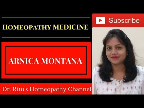 Arnica Montana Homeopathic medicine ! Sign & symptoms ! Uses of arnica Q