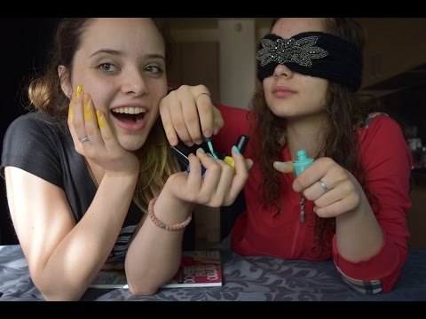 Blindfolded nails painting