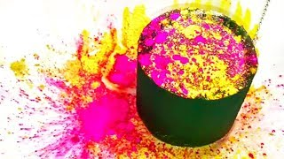 Soaked Floral Foam Crushing! Glitter Bomb! - Daily Satisfying ASMR Video #130