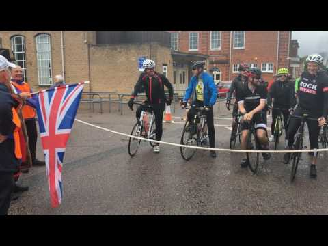 #CycleForLife participants battle wet weather in Beccles!