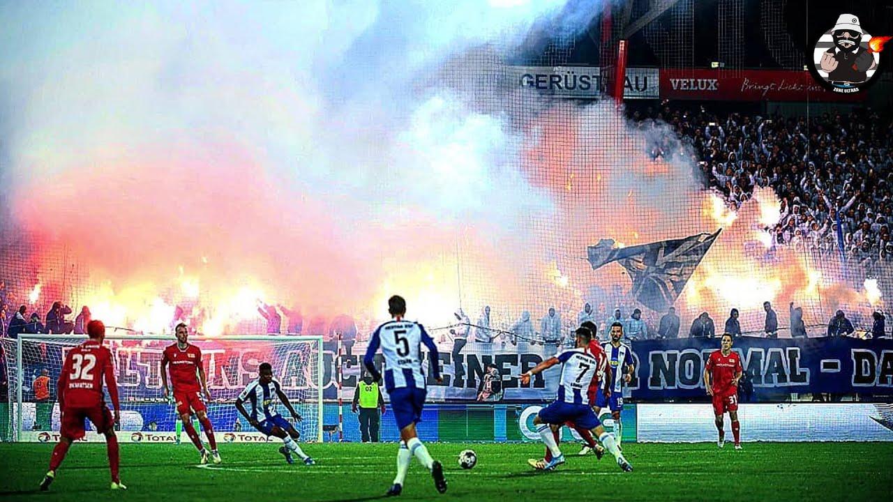 1.FC Union Berlin vs. hertha BSC 02.11.19 - Choreo, Pyros ...