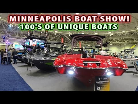 OVER 700 AMAZING BOATS! - MINNEAPOLIS BOAT SHOW!!!