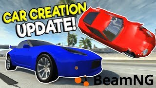 BUILDING & CRASHING MY OWN SPORTS CAR! - BeamNG Drive Gameplay - Automation Car Creator Update