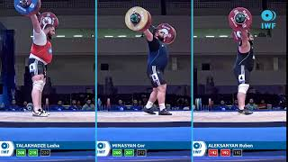 Snatch lifts comparison - IWF WC Pattaya - Men plus109kg
