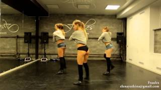 NEW twerk choreo by DHQ Fraules   Travis Porter  Bring it back