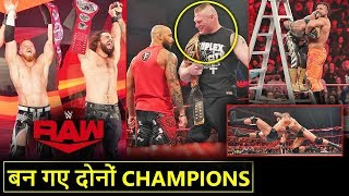 'Ban Gaye NEW CHAMPIONS🔥' Brock Lesnar LOWBLOW*, Seth & Murphy WINS, RKO - WWE Raw Highlights