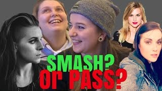 SMASH OR PASS YOUTUBERS vs CELEBS: LESBIAN EDITION