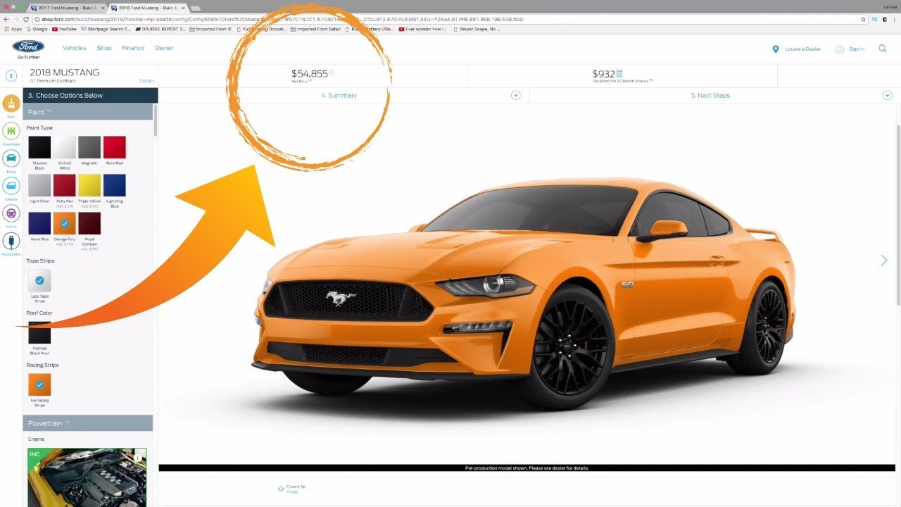 Pricing a new 18 mustang gt to a ridiculous level