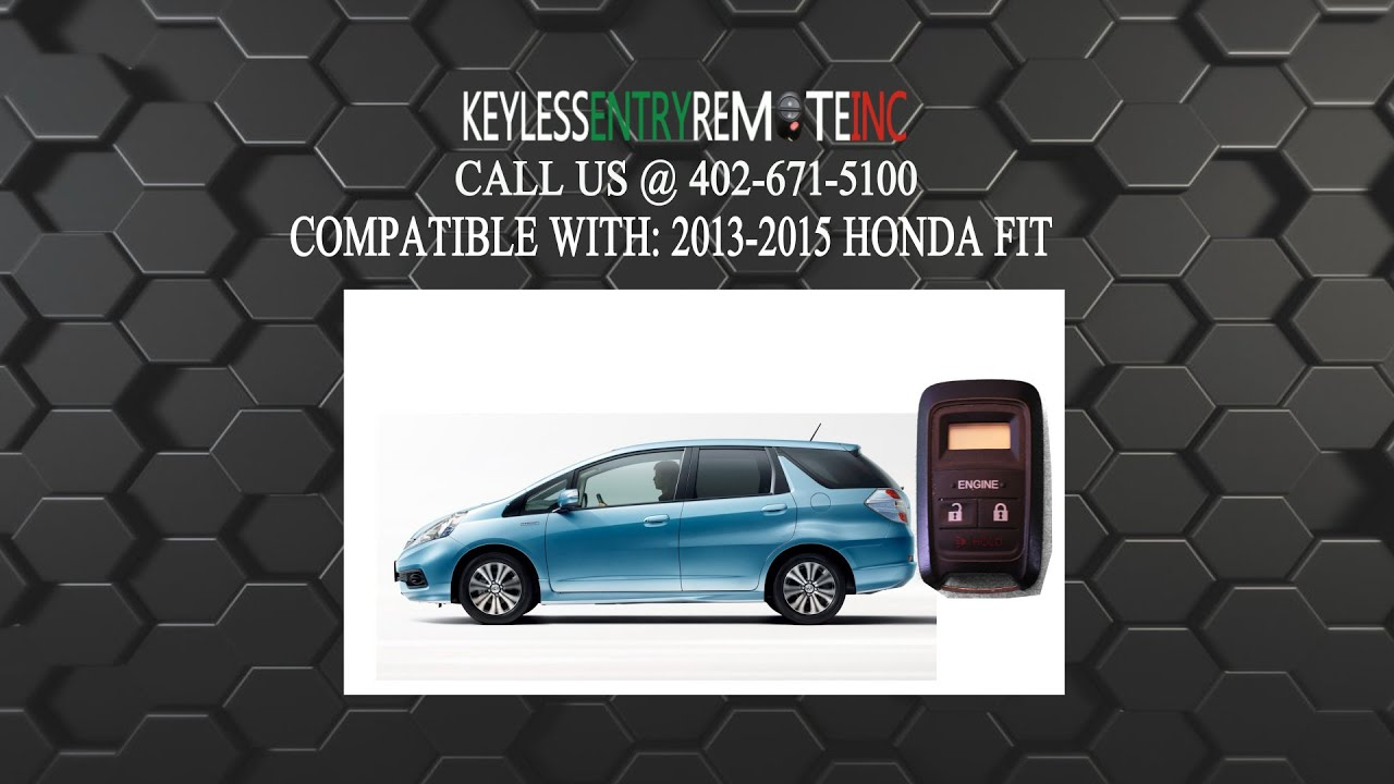 How To Replace A Honda Fit Key Fob Battery 2013 - 2015 ...