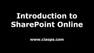 Introduction to SharePoint