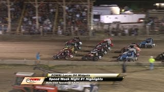 Belle-Clair Speedway POWRi Lucas Oil Midget Feature Highlights