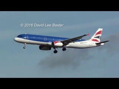 (in 4K) bmi British Midland/British Airways (Hybrid Livery) A321 Landing at London Heathrow