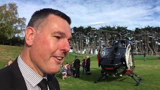 Green Island school pupils amazed by helicopter vi