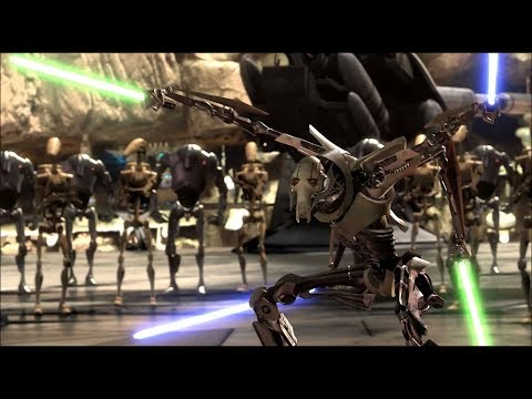 Генерал Гривус против Оби-Вана Кеноби - YouTube