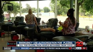 What does the emergency use authorization of convalescent plasma mean?