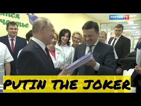Putin Jokes With Doctors While Visiting a Local Perinatal Centre