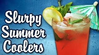 Summer Drinks -- Watermelon Lemonade, Cucumber Sangria, Minted Iced Tea From Readysteadyeat