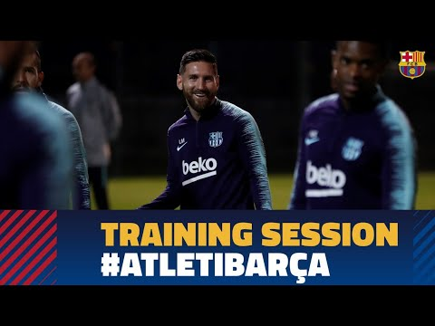 Last training session before LaLiga match against At. Madrid