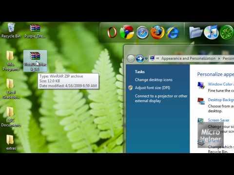 Show Custom Theme Name's On Windows Vista