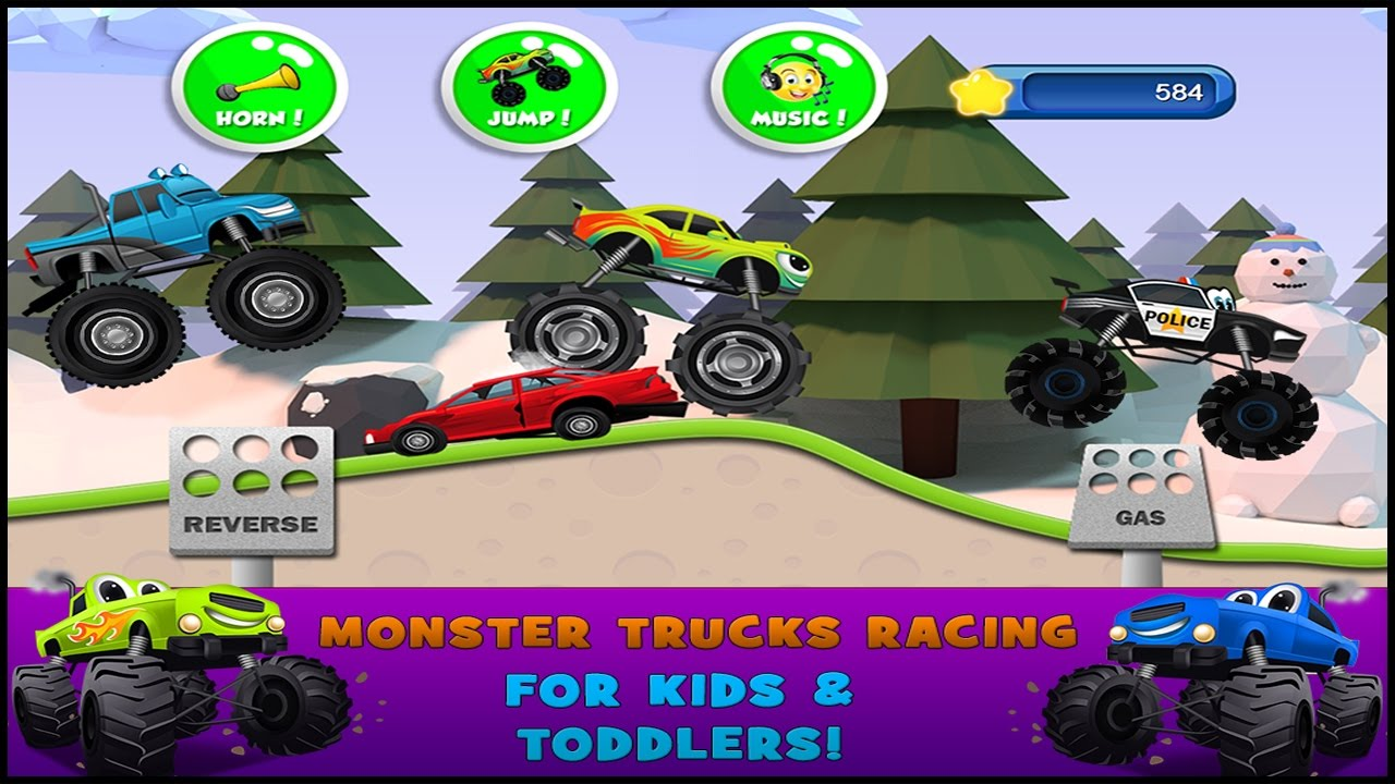 monster trucks game for kids 2 android gameplay hd youtube. Black Bedroom Furniture Sets. Home Design Ideas