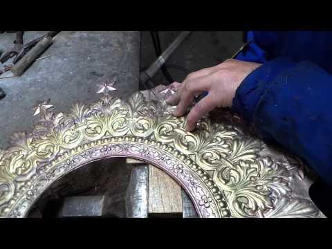 Segueteado de corona y aureola de latón - ArteLlamazares - Orfebreria