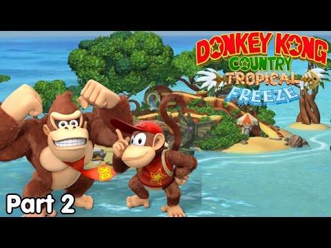 Slim Plays DKC: Tropical Freeze - #2. More Jungle Basics