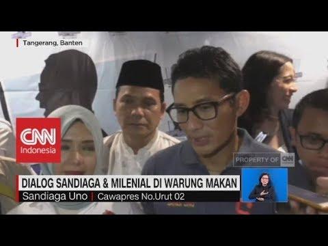 Dialog Sandiaga & Milenial di Warung Makan; Koalisi Jokowi Rapatkan Barisan
