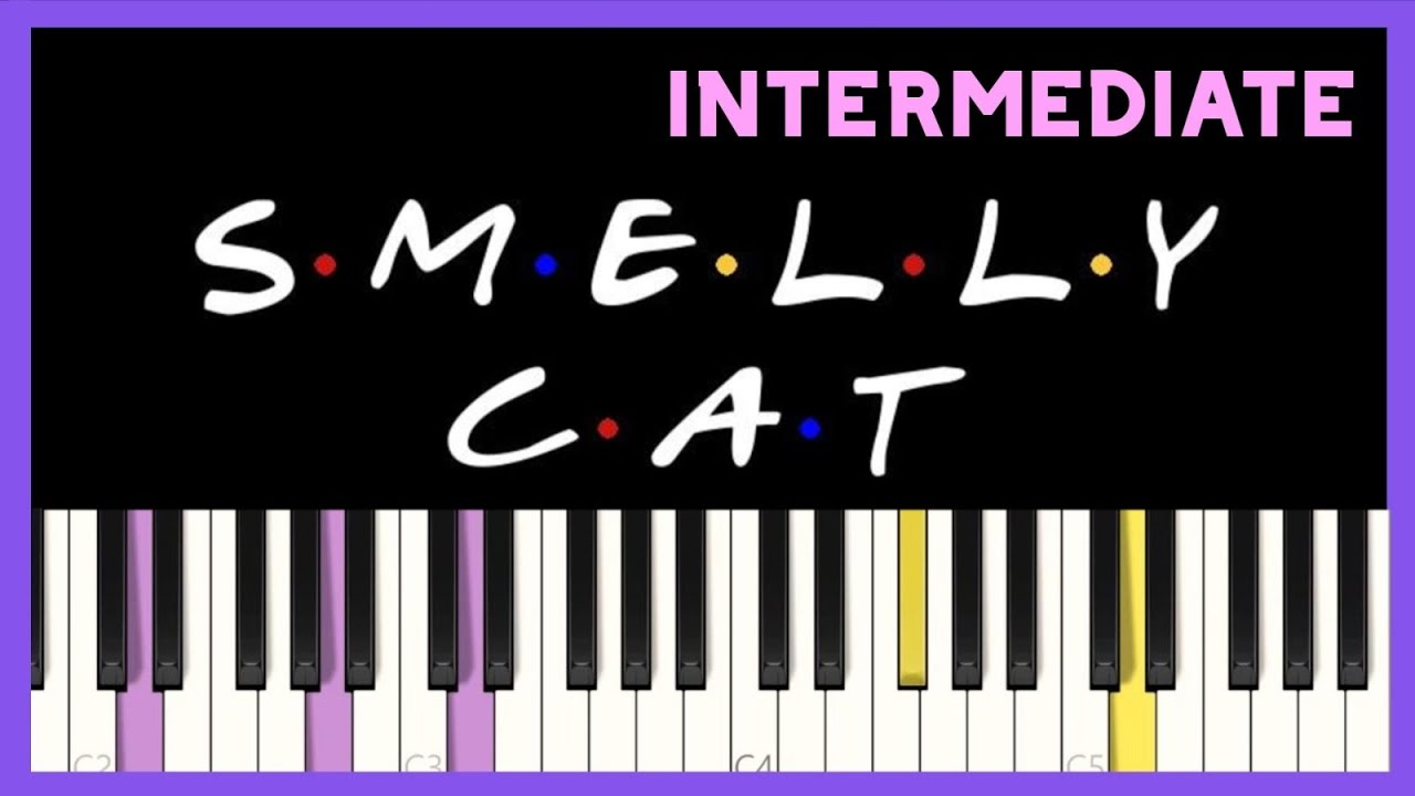 Smelly Cat   Phoebe Buffay   FRIENDS   Synthesia Piano Tutorial