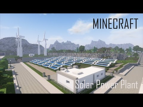 Minecraft Solar Power Plant and Wind Turbines + Download