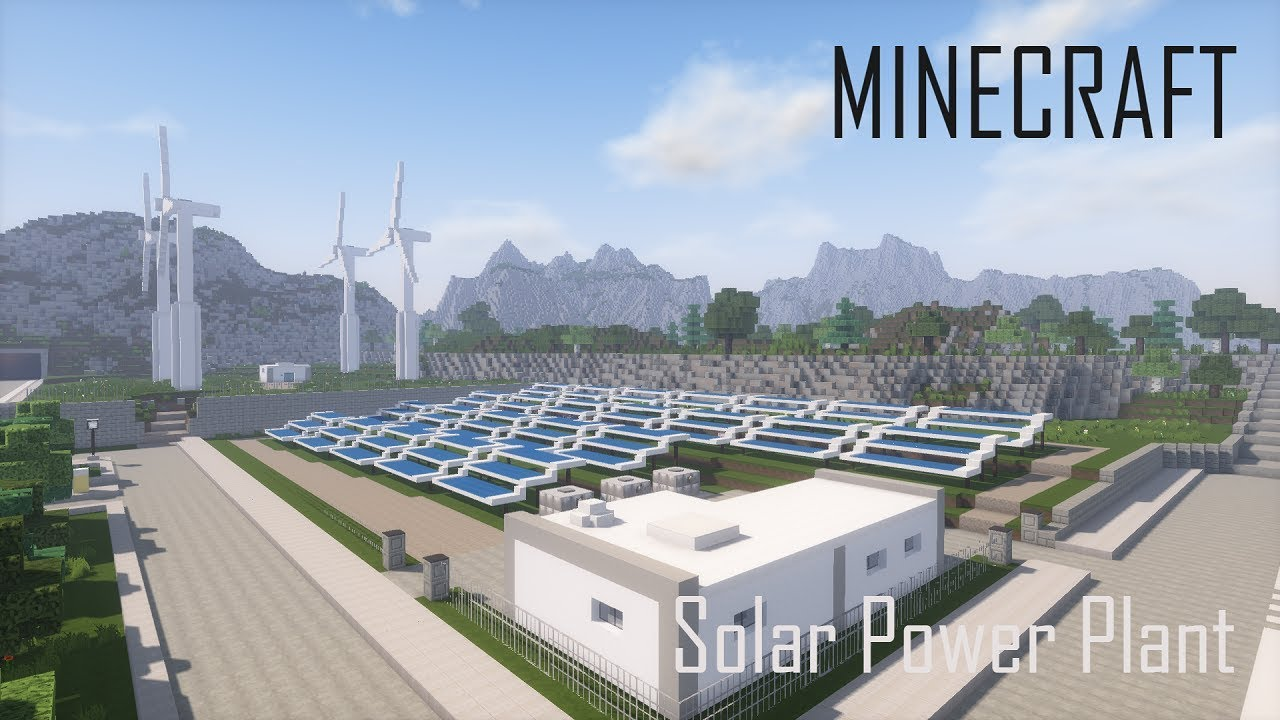 Minecraft Solar Power Plant And Wind Turbines Download