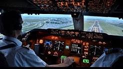KLM B747-400ERF Beautiful Landing at AMS - Cockpit View