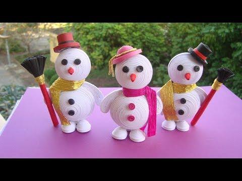Quilling Snowman Tutorial | DIY Paper Snowman Christmas Ornament