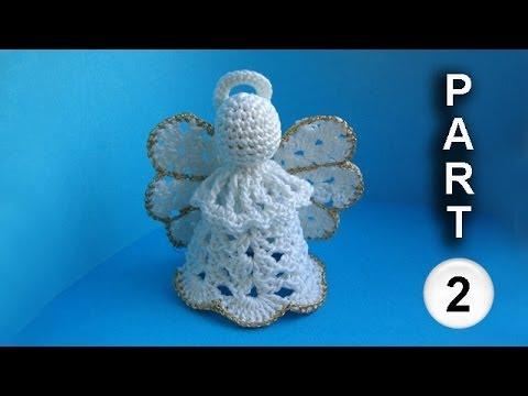 Crochet angel pattern Рождественский ангел Часть 2 letöltés