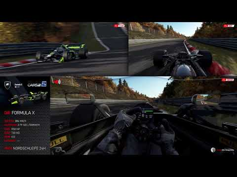 Project Cars 2 • Formula X • Nürburgring Nordschleife 24h • 3 perspectives |