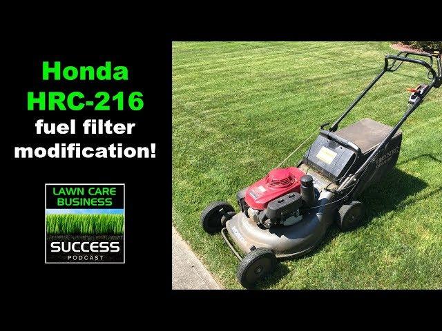 Honda HRC- 216 fuel filter modification