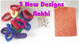 New Rakhi design from waste material/How to make Rakhi/DIY Rakhi/Rakhi making school competitio(182)