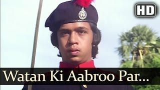 Watan Ki Aabroo Par (HD) - Aaj Ke Sholay Songs - Mahendra Kapoor Hits