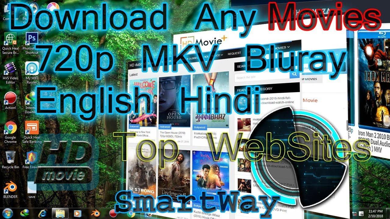 Top web sites to download full hd blueray mkv movies hindi english ||  Smartways Tech by SmartWays of Tech