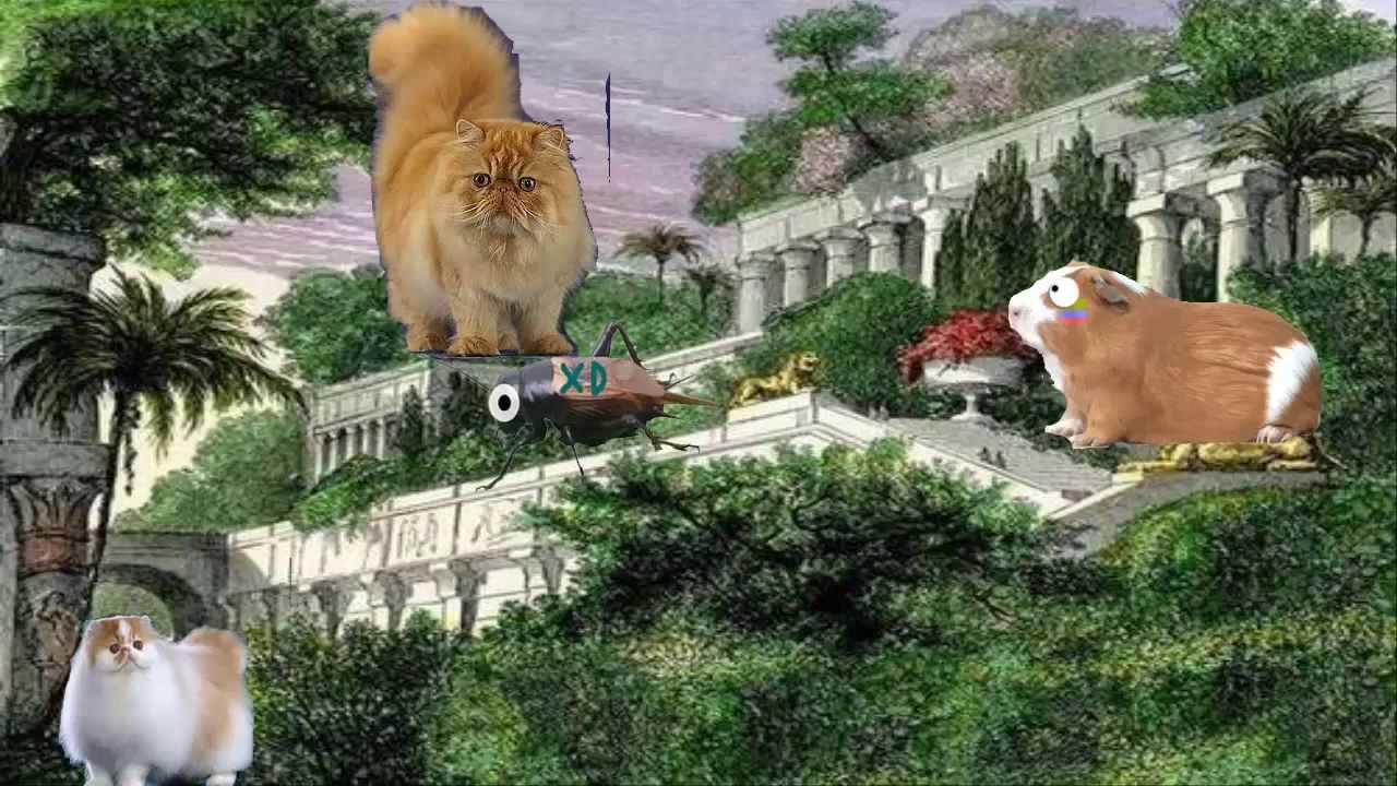paseo por los jardines colgantes de Babilonia  YouTube