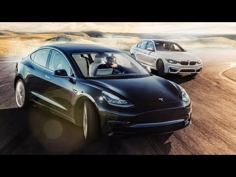 TESLA Model 3 vs BMW M3 Track Battle | Top Gear