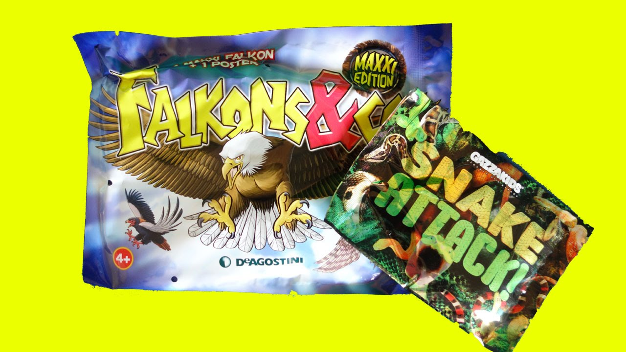 Toys And Co : Falkons co de agostini e snake attack gazzakids apertura